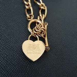 Juicy Couture goldtone heart padlock necklace